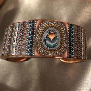 Scarab Copper Cuff 2